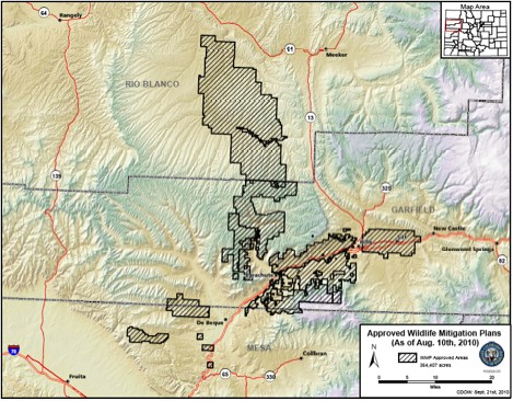 Colorado Wildlife Mitigation Plans map