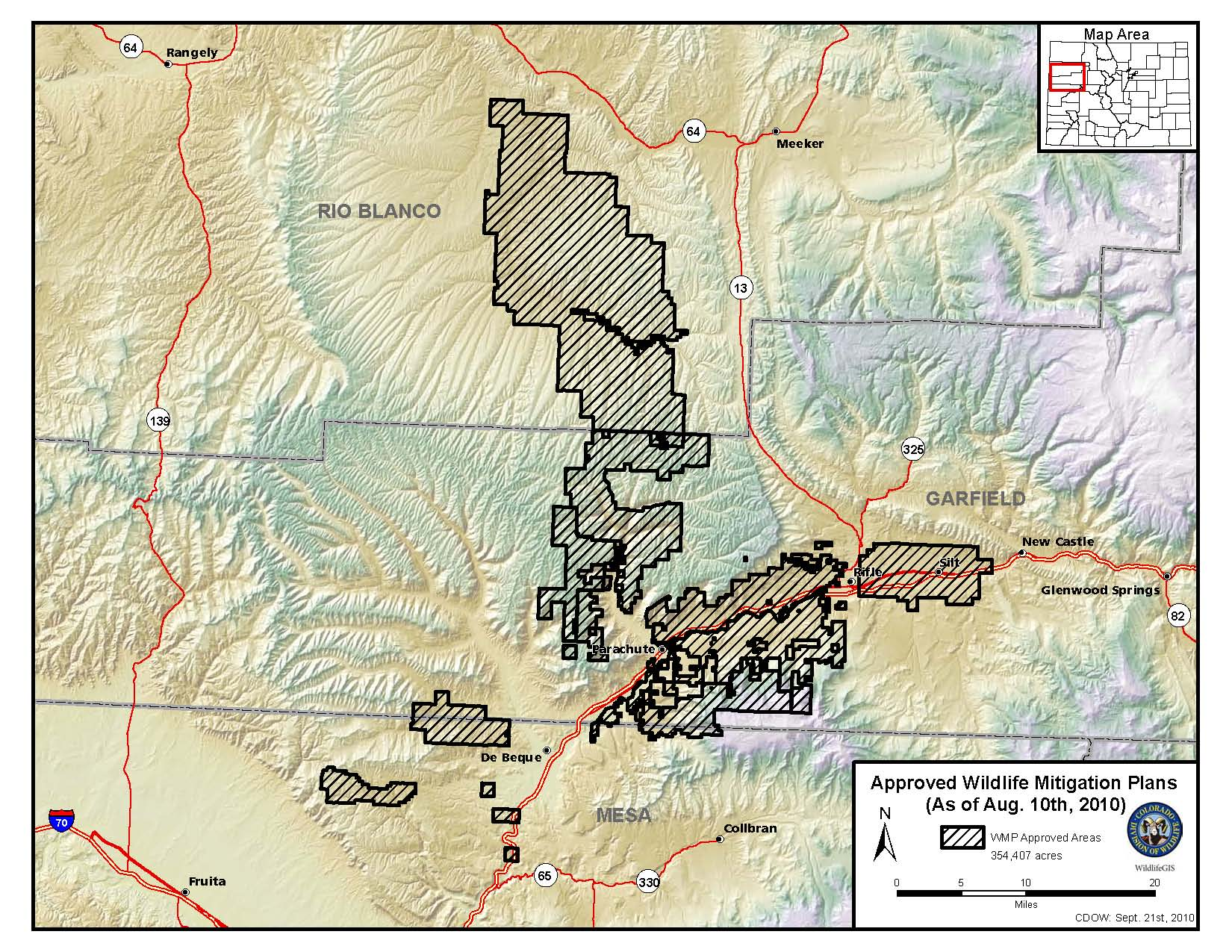 Wildlife Intermountain Oil And Gas BMP Project - Map of colorado population density